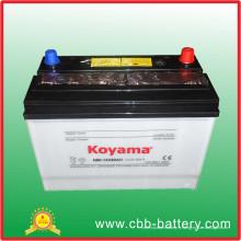 Batterie automatique chargée à sec, norme JIS N80