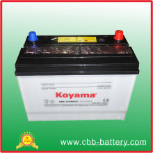 Auto bateria carregada seca, padrão N80 de JIS