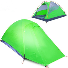 Outdoor Camping Double Aluminum Bar Silica Gel Anti-Rain Travel Tent
