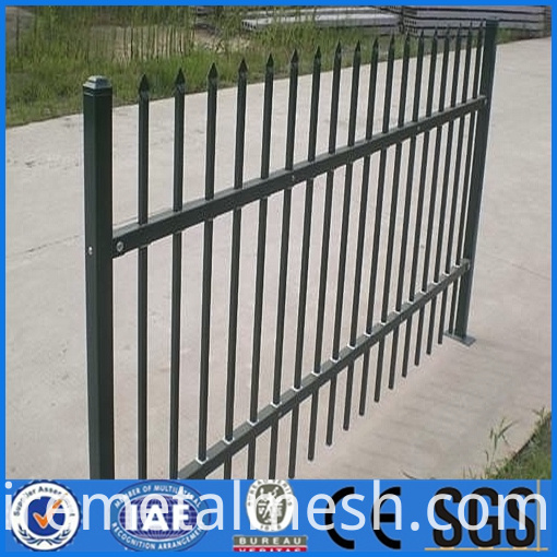 metal zinc steel fence