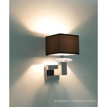 Nuevo diseño de la lámpara de pared aplique con sombra de tela (MB50230-1-170)