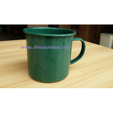 Sunboat Enamel Cup with Handle Cup Drinking Cup Tableware