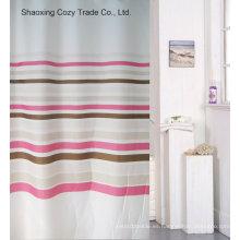 Cortina de ducha de poliéster de diseño simple venta caliente