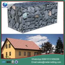 muro de gavión soldado control de inundaciones gabones