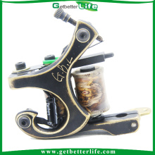 2015 latest tattoo machines CNC fine carved brass tattoo machine Gun MBC01 Shader with 10 copper coils sell tattoo machines