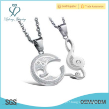 2016 New design jewelry matching couple necklaces cute matching jewelry for couples