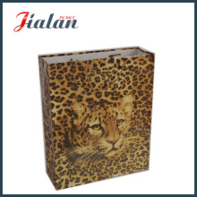 Coated Paper with Leopard Printed Hand Shopping Gift Paper Bag