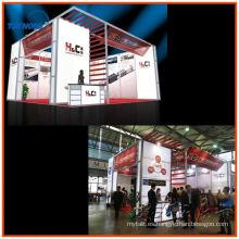 stand de exposición de doble piso con pantallas de extrusión de aluminio para cabina de exhibición modular de Shangai