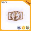 BB01 hebilla ajustable de encargo del tri-deslizamiento del metal de la hebilla del resbalador para el bolso