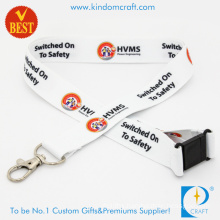 High Quality Custom Logo Heat Transfer Printed Lanyards with Hook