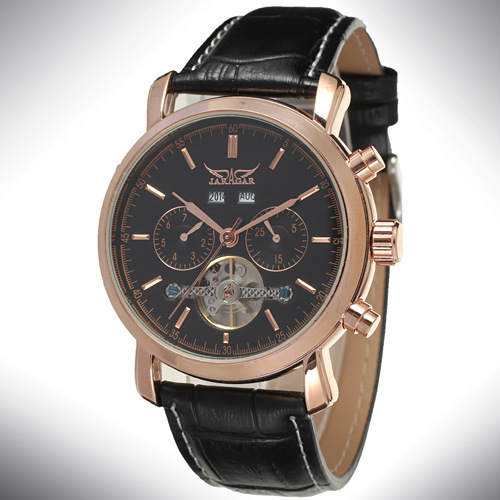 Montre de mouvement automatique automatique OEM / ODM Tourbillon Mens