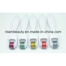 Venta directa al por mayor Tianium Derma 600 agujas Micro rodillo de aguja con cabeza cambiable