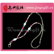 Red Cristal beeds Fashion Handmade Crystal Strap Neck Lanyard