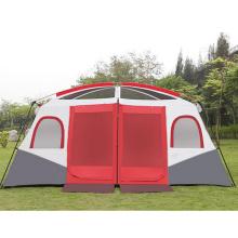 Camping 2 chambres résistant à la pluie 8-10-12 personnes tente deux chambres