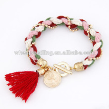 Pendant style wool knitting ladies latest bracelet