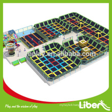 gymnastic rectangular cheap outdoor Safety huge indoor trampolines park with ball pool LE.BC.061                                                     Quality Assured