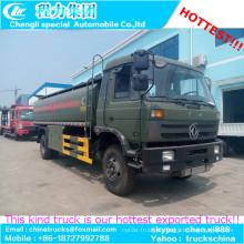 Dongfeng 4x2 tipo exportação para Argélia combustível transporte caminhão-tanque