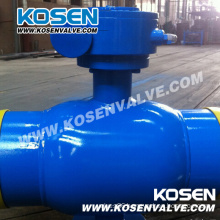 China Full Welded Ball Valves with Extended Stem