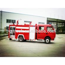 4X2 unidad Dongfeng 4000L camión de bomberos de agua con cuatro puertas para el gobierno de Myanmar (800-1200 galones)