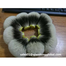 Bulbo Shape Manchurian Badger Hair Knot