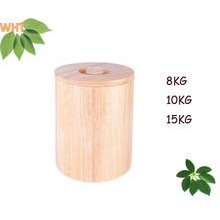 8kg, 10kg, 15kg Rubber Wood Rice Bucket