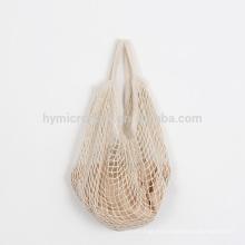 Bolsa de malla de algodón reciclado grande al por mayor