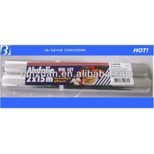 kitchen use aluminium foil roll with PP bag