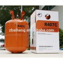 Gas refrigerante mezclado R407C de China