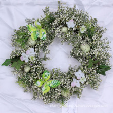 2017 new design easter decoration wreath