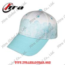 Poliéster Spindrift patrón de impresión de gorra de béisbol cierre de velcro