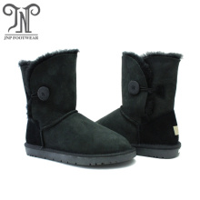 OEM manufacturer custom for Womens Leather Winter Boots Classic women waterproof shearling lined leather boots export to South Africa Exporter