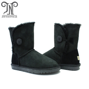 Classic women waterproof shearling lined leather boots