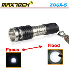 Maxtoch ZO6X-5 Cree XM-L T6 aluminio Portable de 600 lúmenes Led Linterna Zoom
