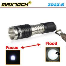 Maxtoch ZO6X-5 Cree XM-L T6 600 Lumens Portable aluminium Led lampe de poche Zoom