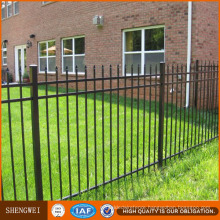 Powder Coated Galvanized Steel Picket Fence