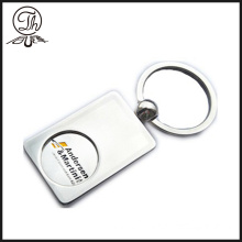 Personalised premium trolley coin key rings metal