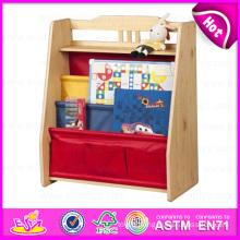 2015 Colorful Kids Wooden Bookshel, Fashion Living Room Furniture Wooden Bookshelf, Portable Children Wooden Book Shelf W08d044