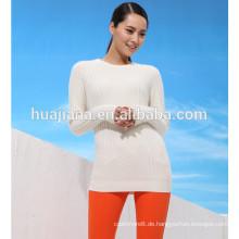 Blended Cashmere Frau weißen Pullover