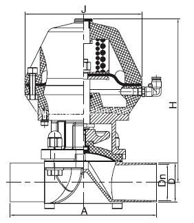 Dimension-of-Welded-Pneumatic-Diaphragm-Valve