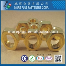 Made in Taiwan C3604 Brass DIN 439 M16 Plain Hex Jam Nut