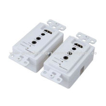 50M Single Cat5e/6 HDMI Wall Plate Extenders with Bi-direction IR, Support CEC Pass-through