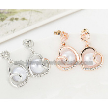 Heart Shape Fashion Zinc Alloy Pearl Earrings For Women