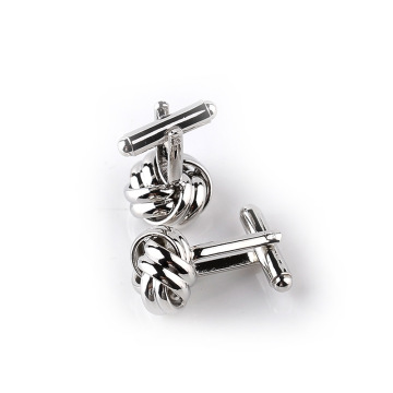 Fashion Stainless Steel Twist Cufflinks