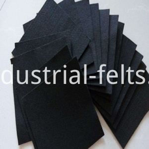 black flame retardant felt