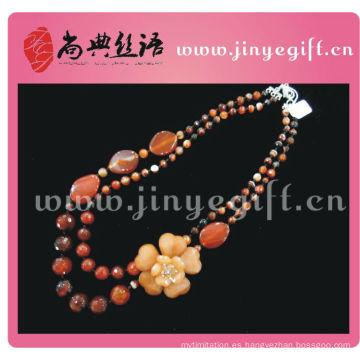 Nuevo juego de joyas de piedras preciosas barato topacio Zircon