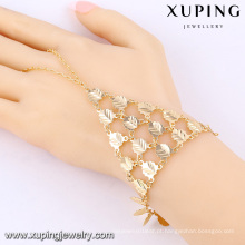 73862 Xuping design exclusivo pulseiras de mão longa cadeia com boa qualidade
