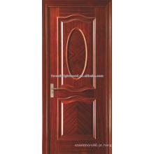 Interior de carvalho vermelho folheada de luxo balançando portas MDF do obturador