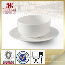 Accesorio de hotel por mayor, taza de sopa de porcelana china