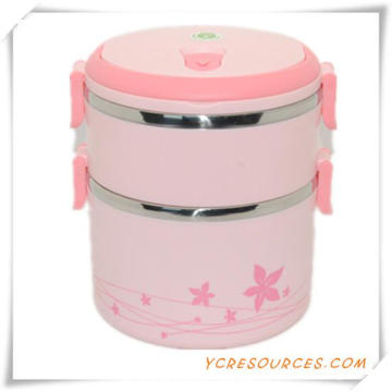 Plastic Stainless Steel Lunch Box for Promotional Gifts (HA62014)