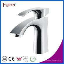 Fyeer Bathroom Chrome Deck Grifo monomando de una sola llave Sense Hot Cold Water Mixer Tap